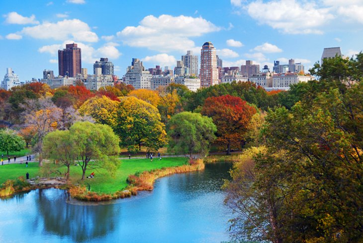 Central Park is very famous in new York city