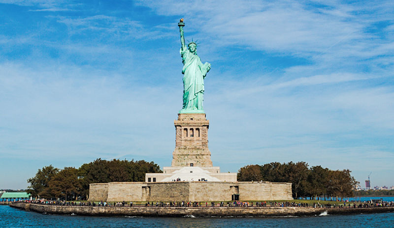 Statue of liberty is one of the iconic monuments in the world